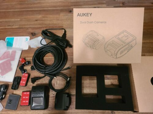 AUKEY Dual Dash Cam【Upgraded Sensor】FHD 1080P Front and Rear Camera Car Camera