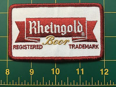 "Rheingold patch rheingold beer vintage beer patch 4"" wide, iron-on backing"