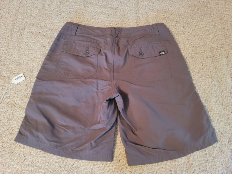 The North Face Shorts Women's Size 12 100% Nylon Gray Hiking 5986