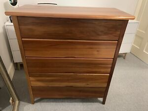 Solid blackbutt timber tallboy drawers