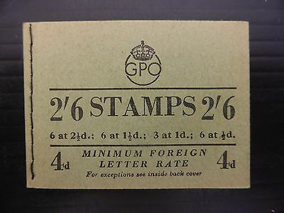 GB 1952 October G.VI - 2/6 Booklet SGBD20 SEE BELOW FP9405