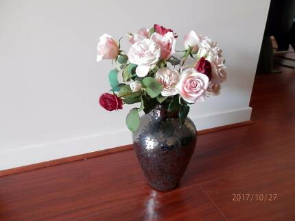 MOSAIC VASE WITH FLOWERS Burnside Melton Area Preview