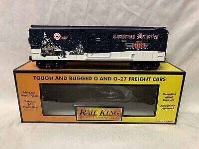 ✅MTH RAILKING 2001 CHRISTMAS BOX CAR 30-7489! FOR O GAUGE TRAIN SET HOLIDAY