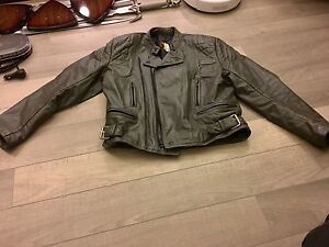 Grey insulated motorcycle jacket XL