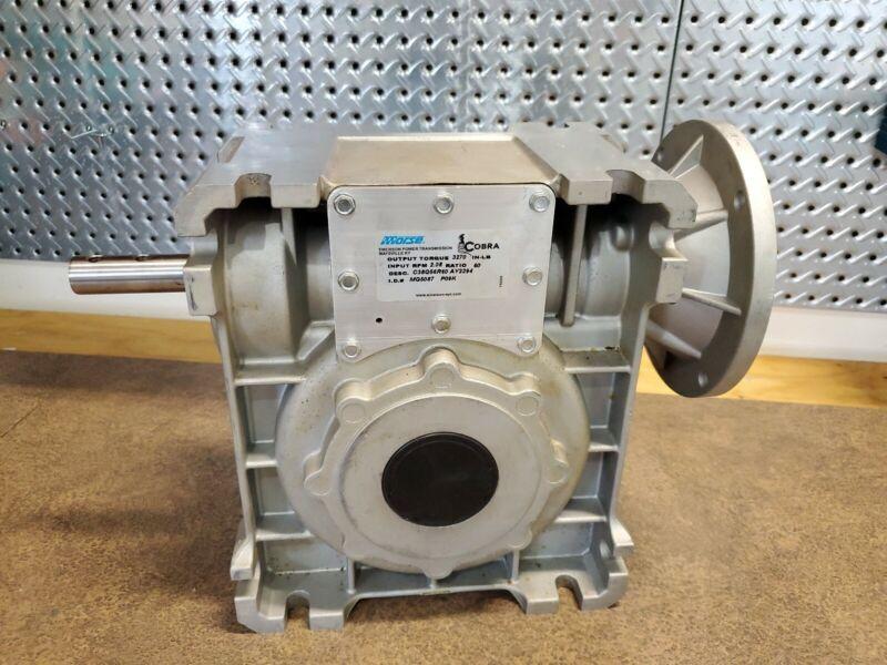 Morse Cobra Worm Gear Reducer 60:1 Ratio  C38Q56R60