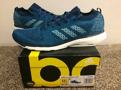 5b8ad17c0 ADIDAS Adizero Prime LTD Parley Boost Sneakers Running Shoes Blue SZ 11.5  New