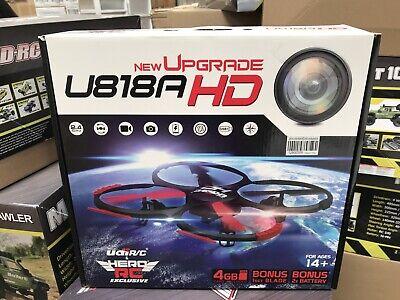 Hero RC UDI U818A QuadCopter Advance 4CH 6 Axis Drone 2.4G RTF HD Camera - USED