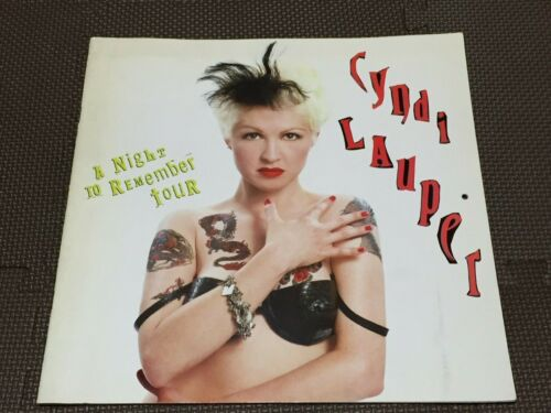 """""""Cyndi Lauper"""" Tourbook A Night To Remember Tour Booklet 1990 Calendar Type"""