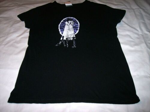 AFI Girl With Face In Her Hands Black Shirt Ladies Large Petite 2005