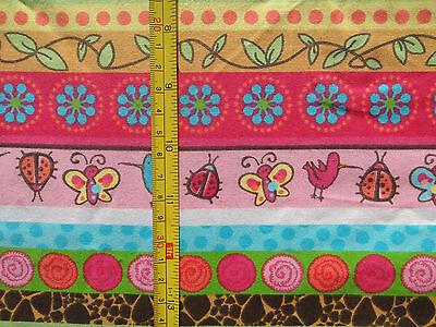 SAFARI STRIPE, Springs Creative Products, Animals/Floral Multicolor Stripes, 1yd