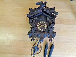LARGE ANTIQUE CUCKOO CLOCK 2 Pine Cone WEIGHTS RESTORATION or PARTS