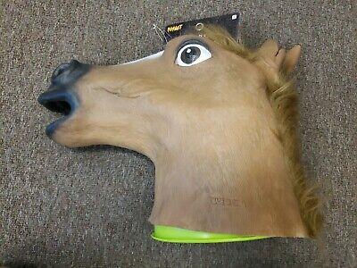 Horse Head Halloween Costumes (Fancy Dress Halloween Horse Head Mask Latex Animal Cosplay Costume Free S/H New)