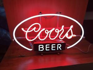 Coor's and Coor's Light bar signs and lights