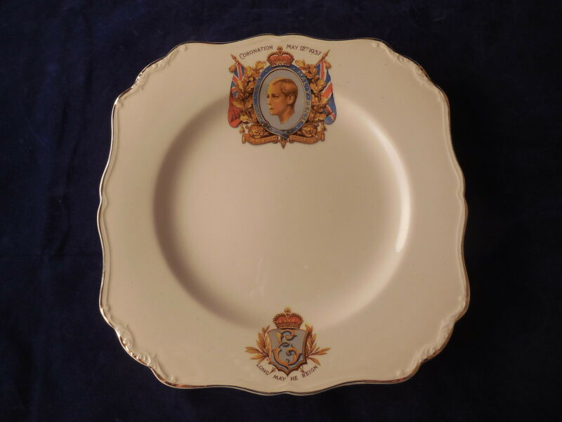 Commemorative Plate King Edward VIII 1937  Coronation J & G Meakin England