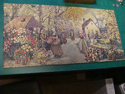 vintage 1000 piece wood puzzle: HOLLAND FLOWER MARKET, v cool;