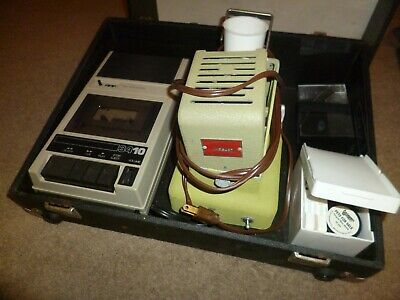 Vintage Projector And Cassette Player For School Use With Case
