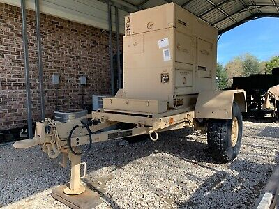 15kw Military Diesel Generator Fermont Mep-804a On 1 Ton Trailer Only 3 Hrs