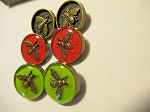 Gucci 6  buttons BEES BRASS TONE  15 mm   THIS IS FOR 6