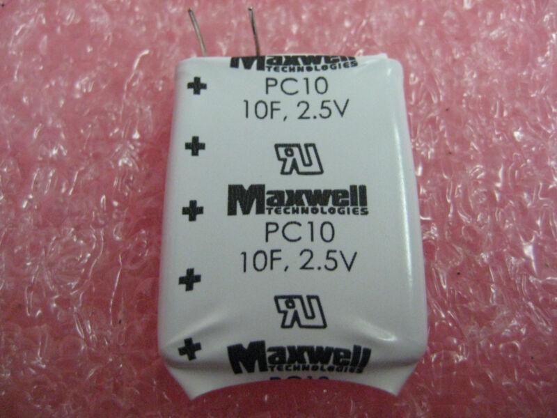 MAXWELL ULTRA CAPACITORS (PC10-270 SERIES) 2.5V 10F (10 PCS)