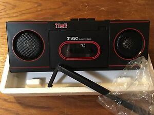 Time Magazine Stereo Cassette Player NEW