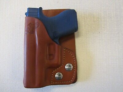 63d66da6373a Braids Holsters Glock 43   43X wallet and pocket BROWN leather holster