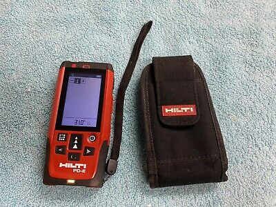Pre-owned Slight Issue Hilti Pd-e Laser Range Meter Distance Measurer W Pouch