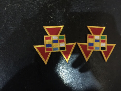 Past High Priest Patches, Royal Arch Patches 2 pcs, Patch, RAM Patches