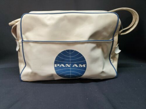 Vintage Pan Am Travel Bag White, Band School of America Logo