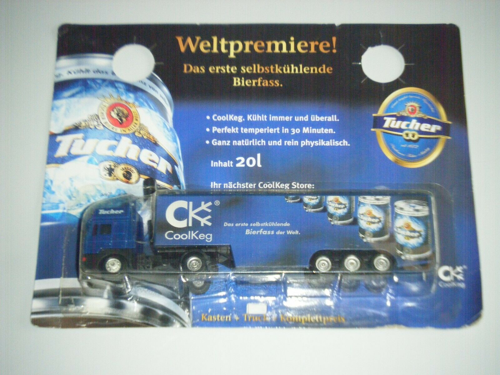 NEU Lkw  MAN / Sattelzug   * TUCHER *  Bier- Transporter Werbetruck  CoolKeg OVP