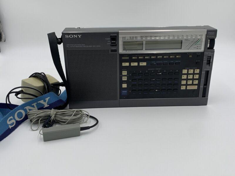 Sony ICF-2010 Portable Shortwave Radio Receiver Air/FM/LW/MW/SW WORKS!!