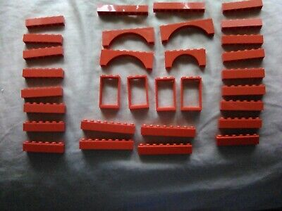 Vintage 1975 Lego Red Bricks Parts from Hospital Set 363/555 Lot of 31 Pieces