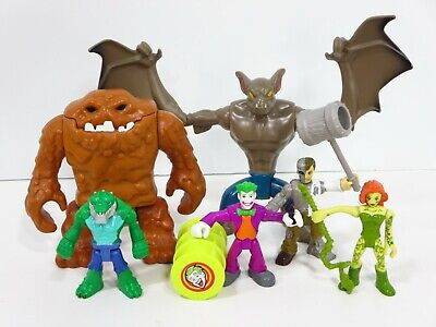 DC Super Friends Imaginext Batman Figures Clayface Man Bat Joker Croc Villains