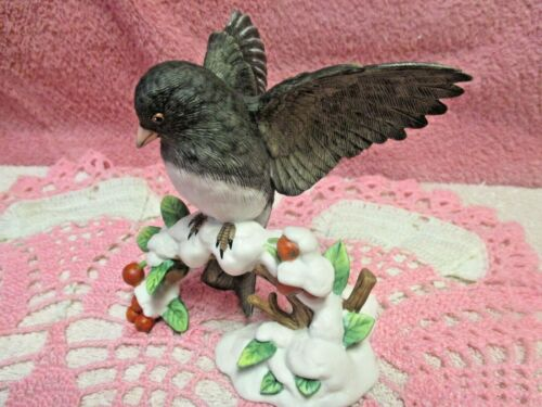 Lenox Dark - Eyed Junco Fine China Porcelain Garden Bird Collectible