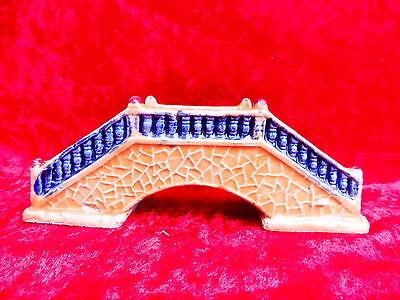 Beautiful, ANTIQUE CERAMICS__CHINESE BRIDGE__Terracotta Glazed__