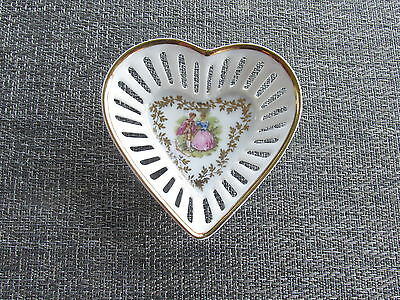 VINTAGE BAVARIA GERMANY SCHWARTZHAMMER  PORCELAIN CHINA HEART TRINKET DISH