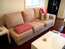 3 seater beige lounge and chaise longue Greenslopes Brisbane South West Preview