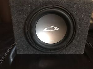 Small subwoofer box with alpine sub