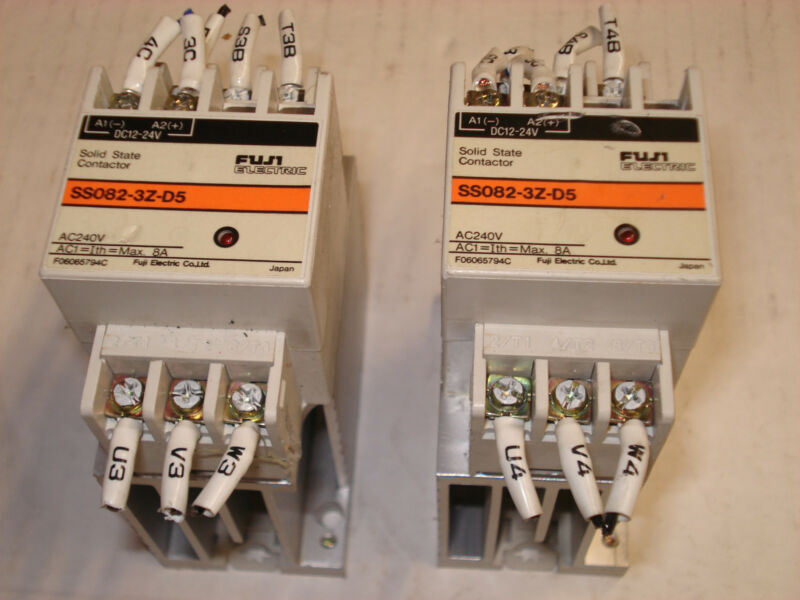 2 FUJI ELECTRIC SS082-3Z-D5 SOLID STATE CONTACTOR (Free shipping)