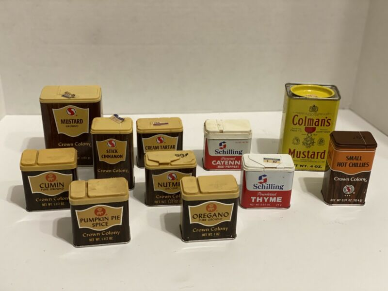 vintage spice tins lot