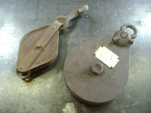 Vintage  Snatch Block Pulleys