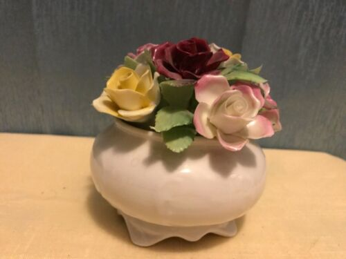 "Royal Adderley Floral Bone China Made in England Porcelain Flower Bouquet. 4""T"