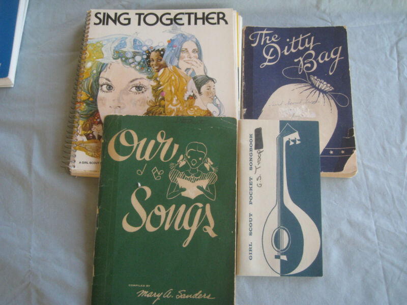 Vintage Girl Scouts Song  Books Lot of 4