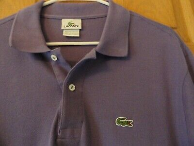 Men's Lacoste Lavender Purple Polo size 7 (XL)