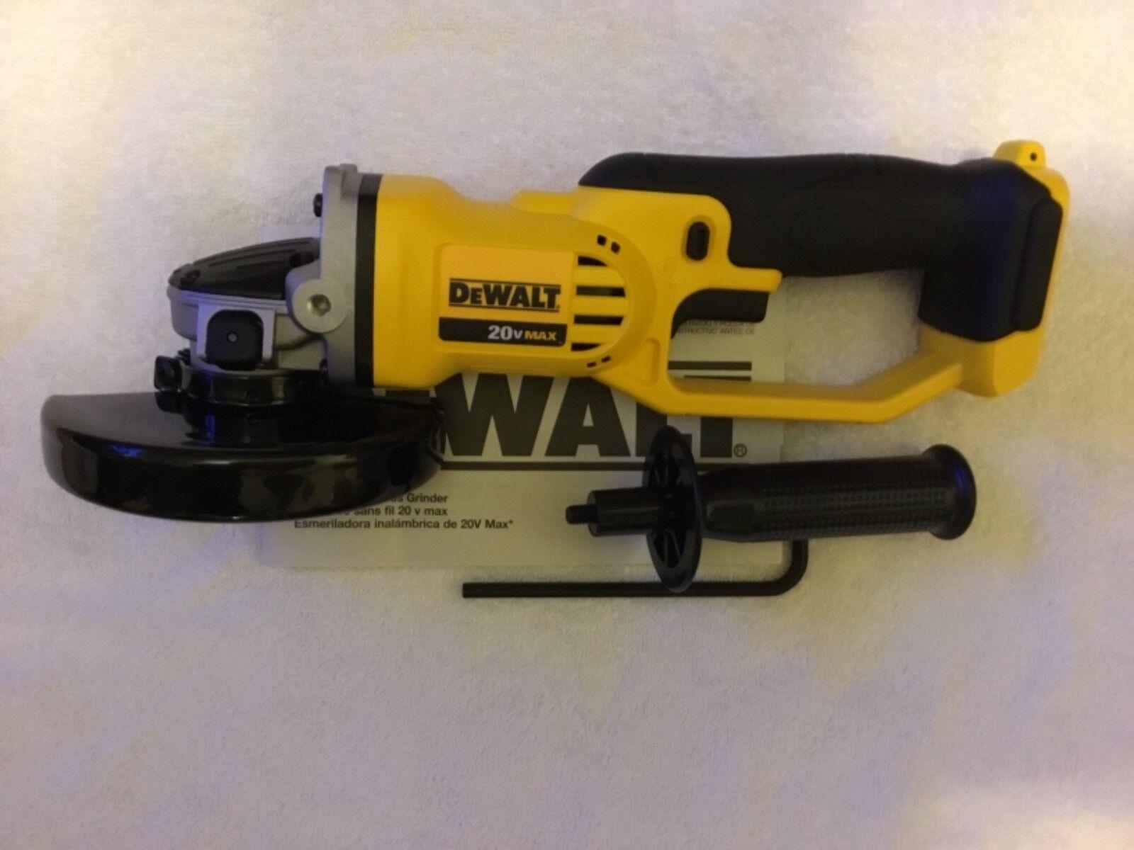 """New Dewalt DCG412B 20V 20 Volt Max 4-1/2"""" Cordless Cut Off T"""