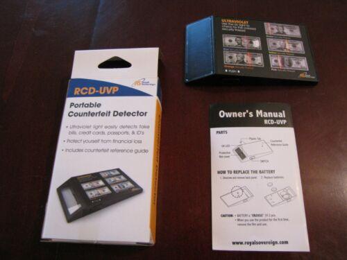 Royal Sovereign Portable Counterfeit Detector RCD-UVP