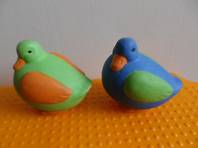 Höhe 7 Stück Esszimmer (Tauben Vögel 2 Stück Grundfarbe: grün und blau Höhe 7 cm Breite 6 cm Dekofiguren)