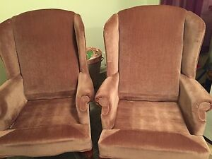 Vintage Wing Chair set