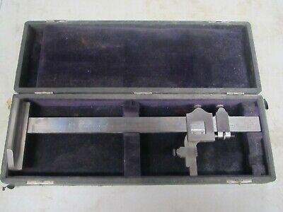 Vintage Brown Sharpe No. 585 12 Inch Vernier Height Gage With Case