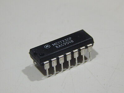 Mc1723cp Voltage Regulator Adjustable 2 To 37v 14pin Dip - Lot Of 4 Ics