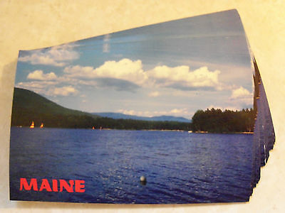 MAINE NORTHERN LAKES, PICTURESQUE ME.! IDENTICAL POSTCARD LOT OF 25 UNUSED! 2w